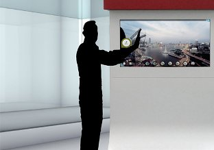 museum use of multi touch screen