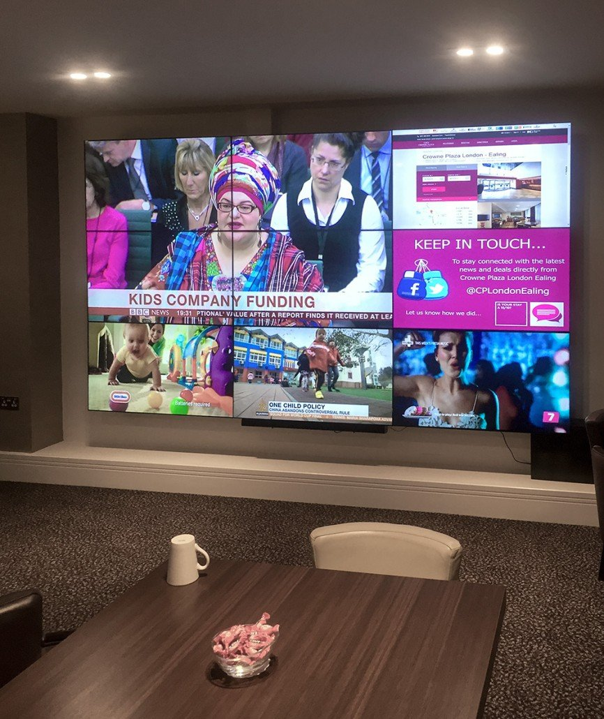 Crowne Plaza Video Wall