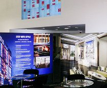 Galliard homes interactive solution at London marketing suite
