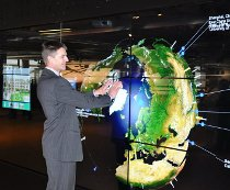 Interactive video wall at University of Glasgow