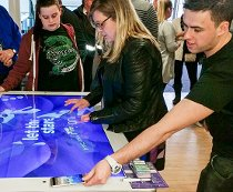 HTC interactive multitouch screen
