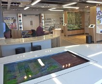 Multi touch table in Lynmount Pavilion, Exmoor