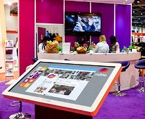 Mitie exhibition interactive screen and table