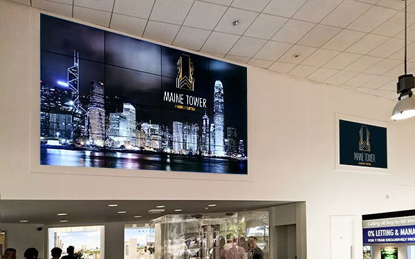 non touch video wall for Galliard
