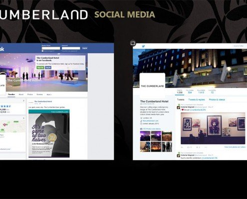 Social Media section- Facebook and Twitter