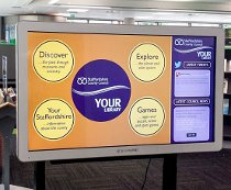 Multitouch screen at Stafford library