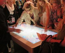 Multitouch table for networking event Thorpe Park