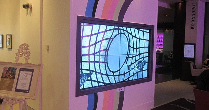 2x2 Wall Mounted Interactive Touch Video Wall - Heriot Watt
