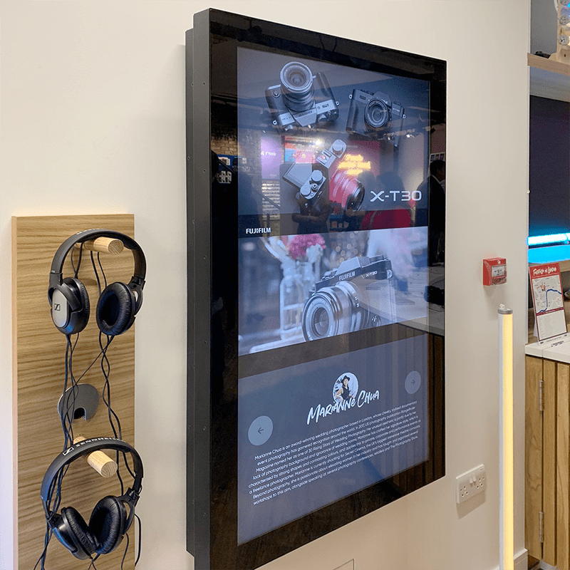 wall mounted boxtop touch screen
