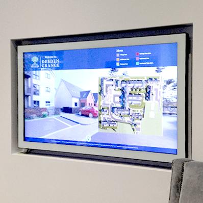 Wall insert boxtop touch screen