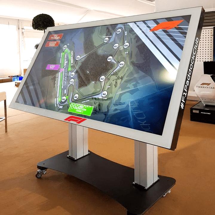Touch screen boxtop on varitilt trolley