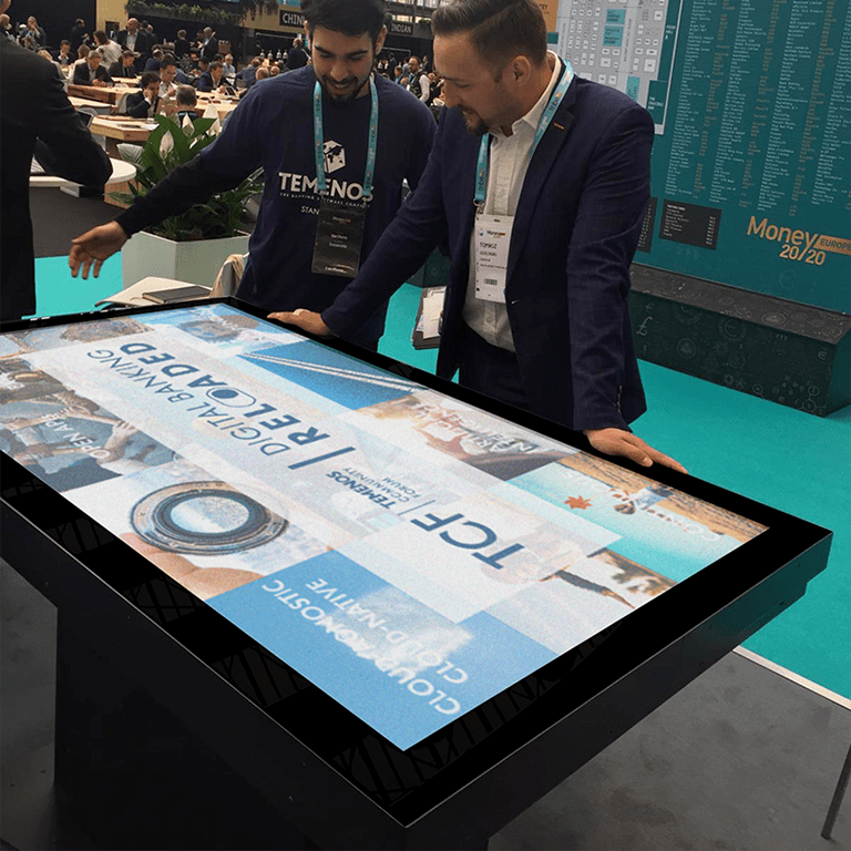 Exhibition boxtop touch screen
