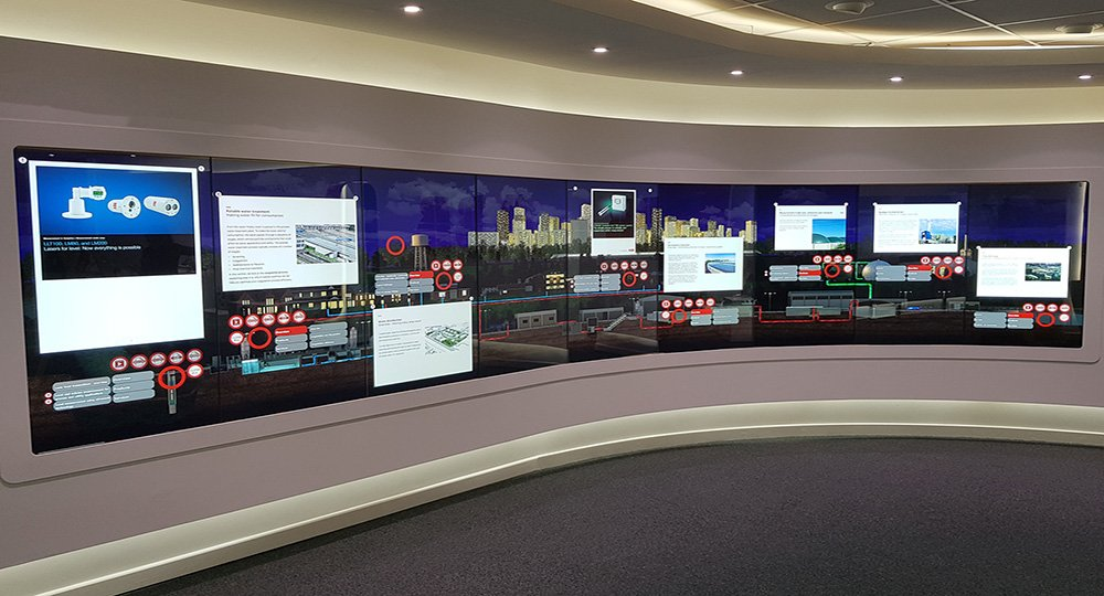 9x1 Curved Touch Video Wall