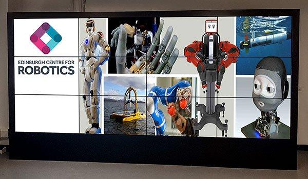 Herriot Watt Robotics Promultis Video Wall