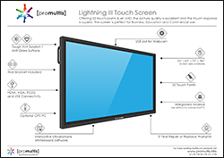 promultis lightning III touch screen