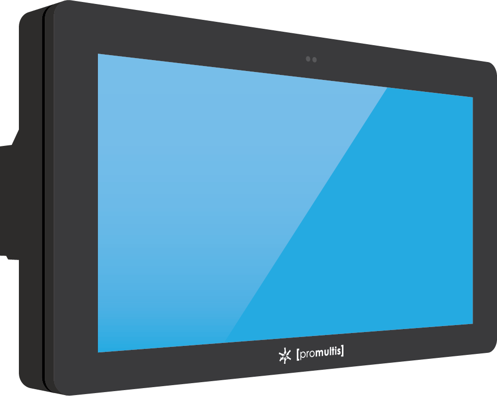 Promultis outdoor screen with fans