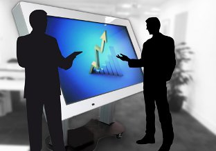 Interactive screen business solution