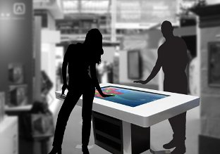 Interactive screen at exhibitions