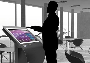 multitouch screen in restaurant