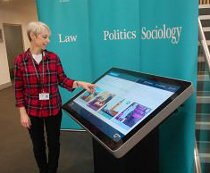Promultis touch screen kiosk in Sussex university