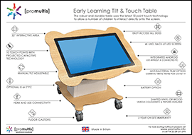early learning tilt & touch table