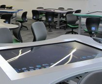 Touch tables at Exeter University