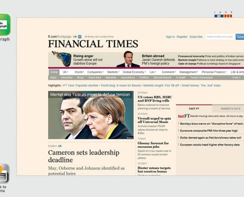 Financial Times Website
