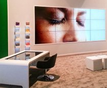 Multitouch table and video wall at Givaudan exhibition