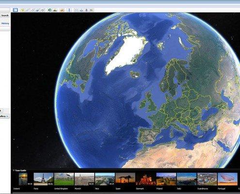 Launching Google Earth