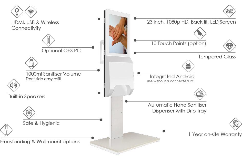 promultis hand sanitiser kiosk