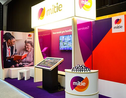 Promultis standard kiosk on Mitie exhibition stand