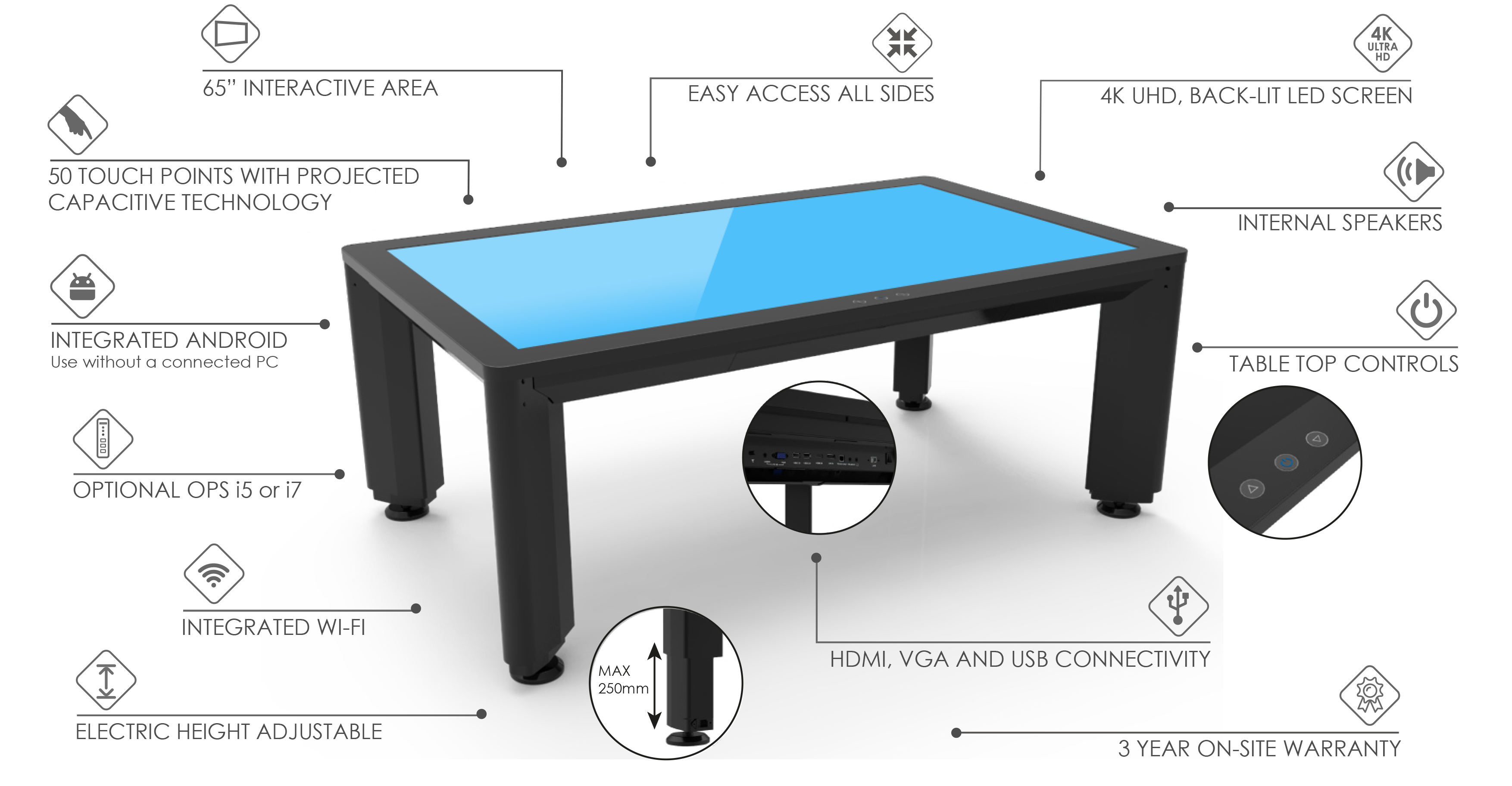 tetra elite touch table