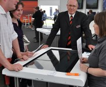 Promultis multitouch table at Openfield Cereal show