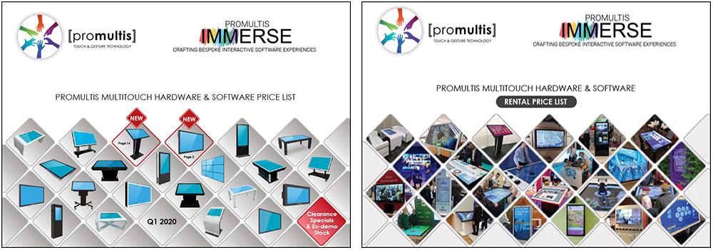 Promultis Price List covers