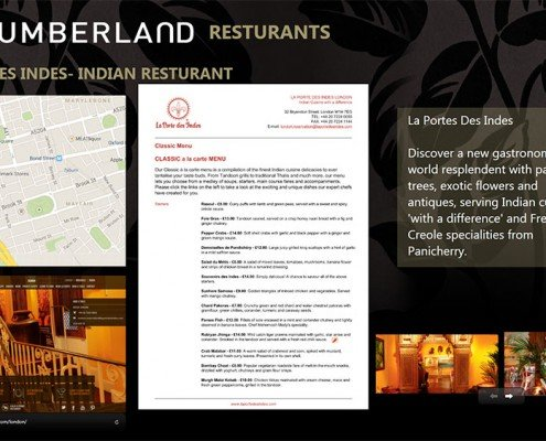 Restaurant Menu- La portes des indes