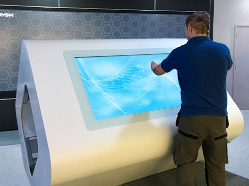 Custom made touch screen