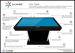 Promultis uno table