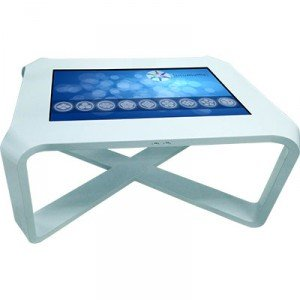Interactive table with multitouch screen